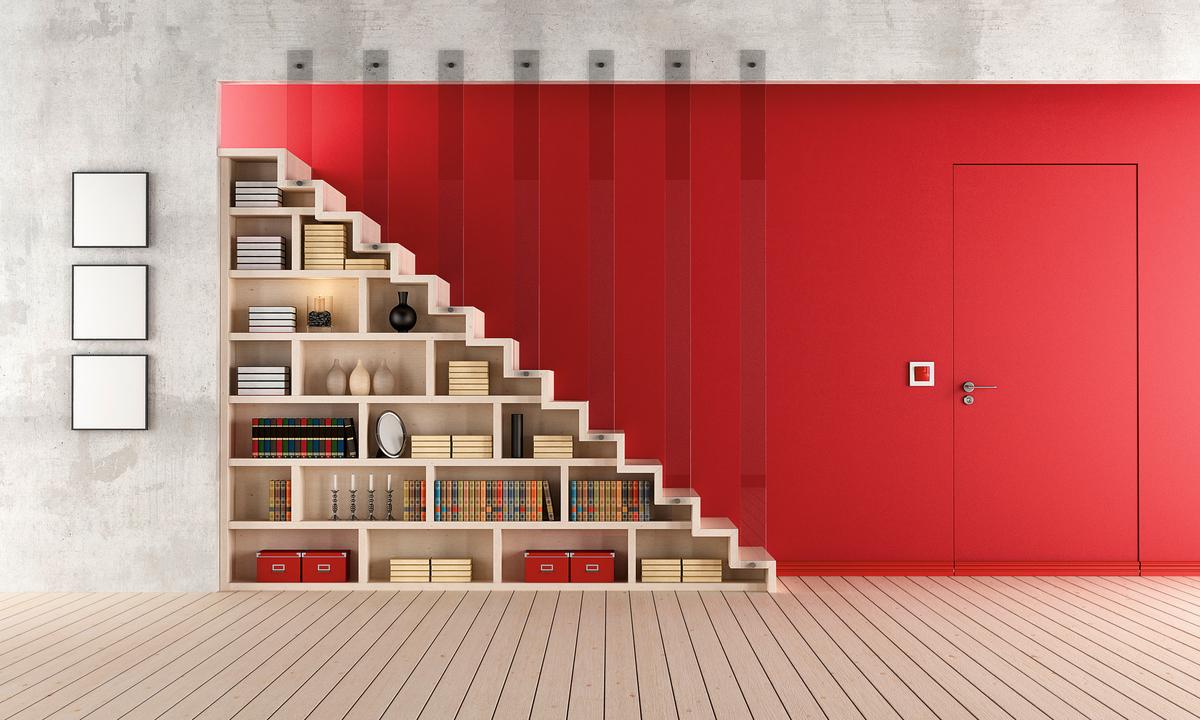 Platz schaffen schreinerzeitung informatives und - Regal unter treppe ...